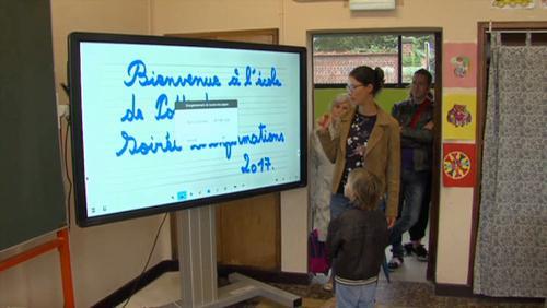 L'école communale a désormais des tableaux interactifs