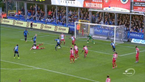 Mouscron inflige à Bruges sa première défaite de la saison
