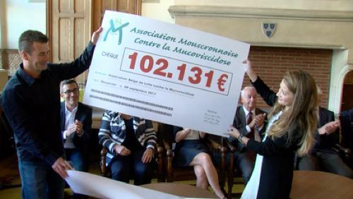 Les dons ont dépassé le million pour lutter contre la mucoviscidose