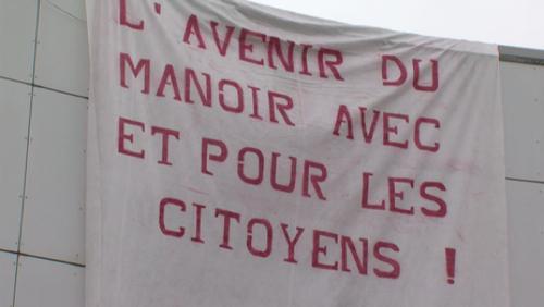 Manifestation d'Ecolo au Manoir