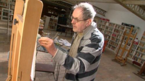 Pjeroo Roobjee dans son atelier à Ellezelles