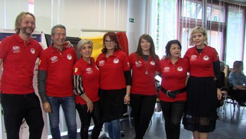 L'équipe belge de coiffure part à Naples
