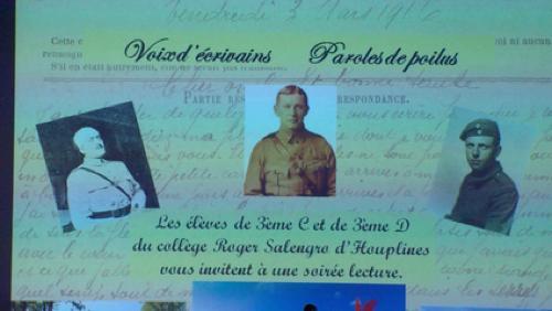 Les élèves d'Houplines rendent hommage aux poilus