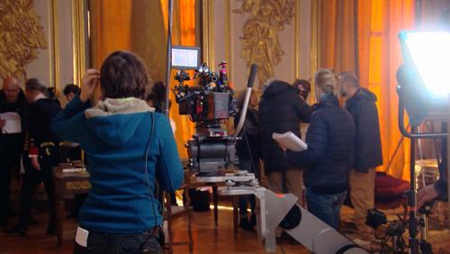 Charles Dance, alias Tywin Lannister, en tournage au château de Beloeil