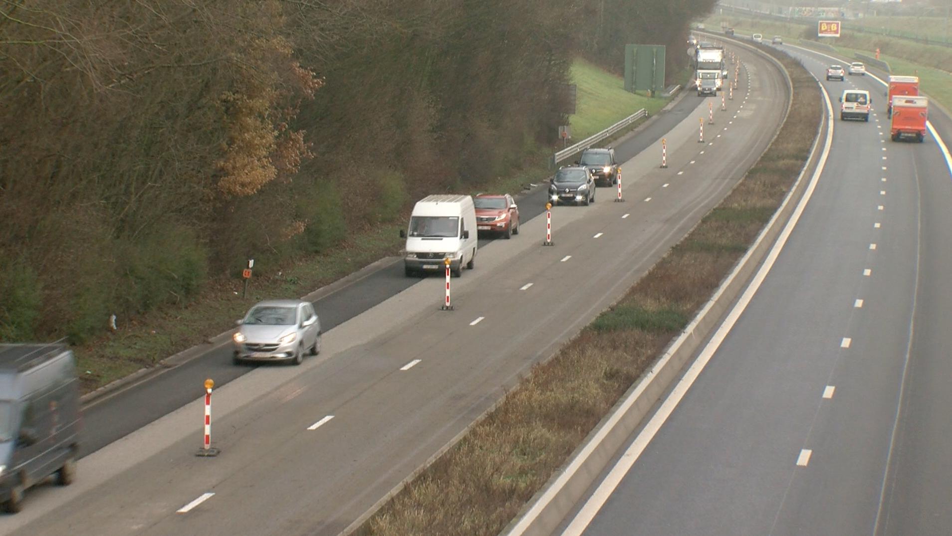 A 90 km/h sur 2 bandes dans le chantier de l'A8 entre Tubize et Hoves