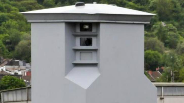 Un radar Lidar installé à Ploegsteert, dans la rue d'Armentières
