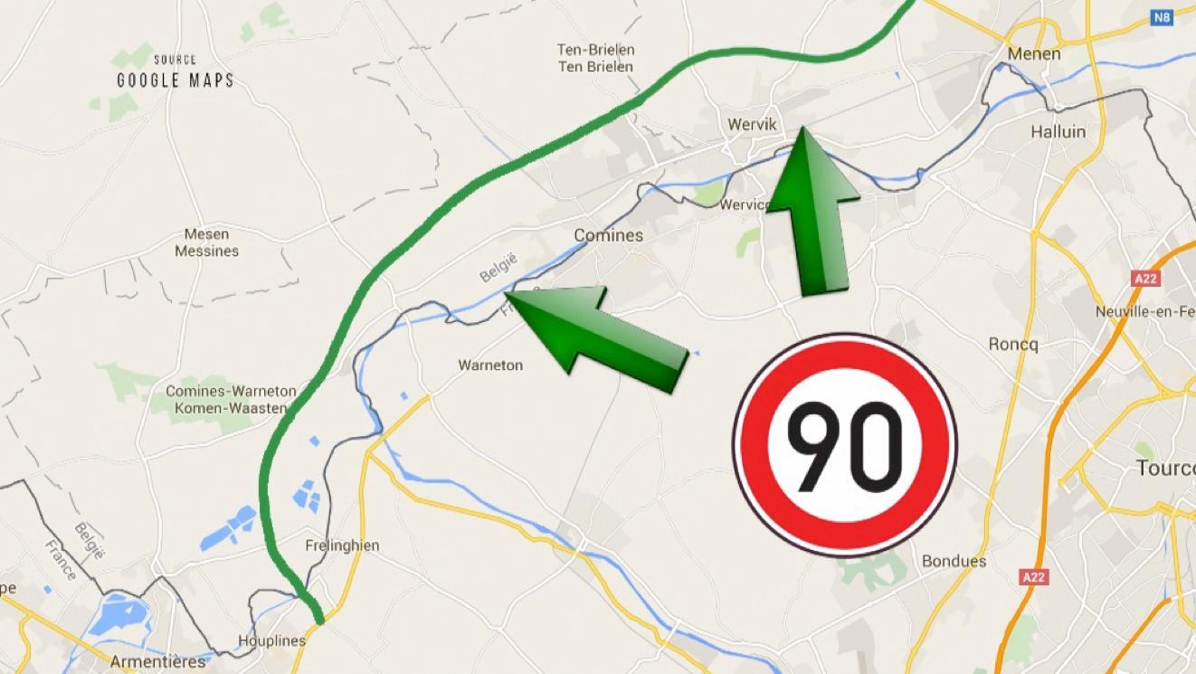 La RN58 passera bien à 90 km/h