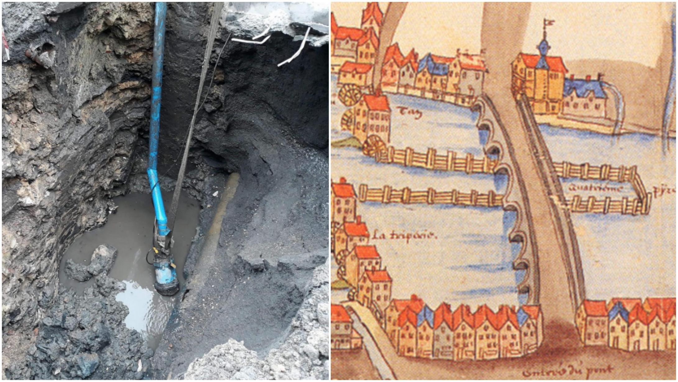 Des vestiges du 17e siècle découverts lors des travaux du quai Saint-Brice