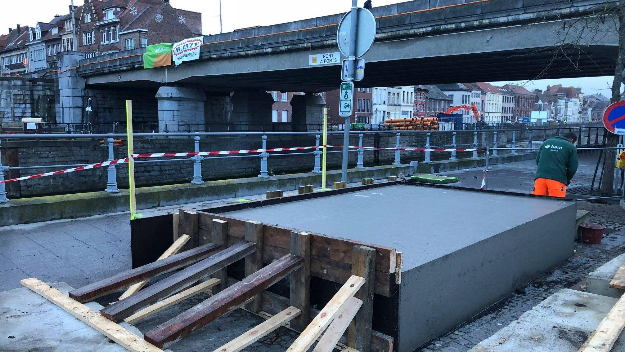 Démolition du pont à Ponts: une passerelle provisoire bientôt installée