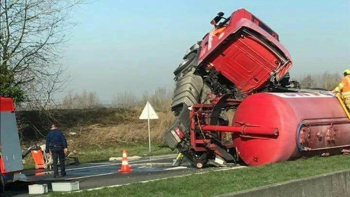 L'autoroute A17 Courtrai-Tournai fermée à la circulation