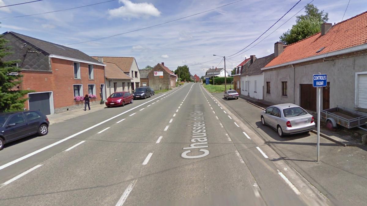 Un Lidar installé à la chaussée de Valenciennes à Irchonwelz