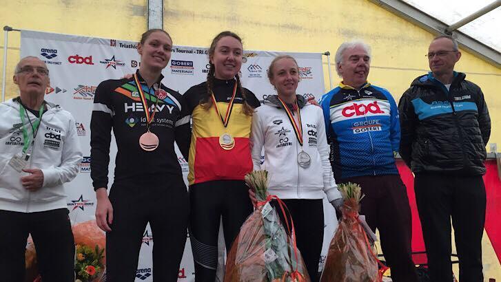 Emma Claisse championne de Belgique de duathlon
