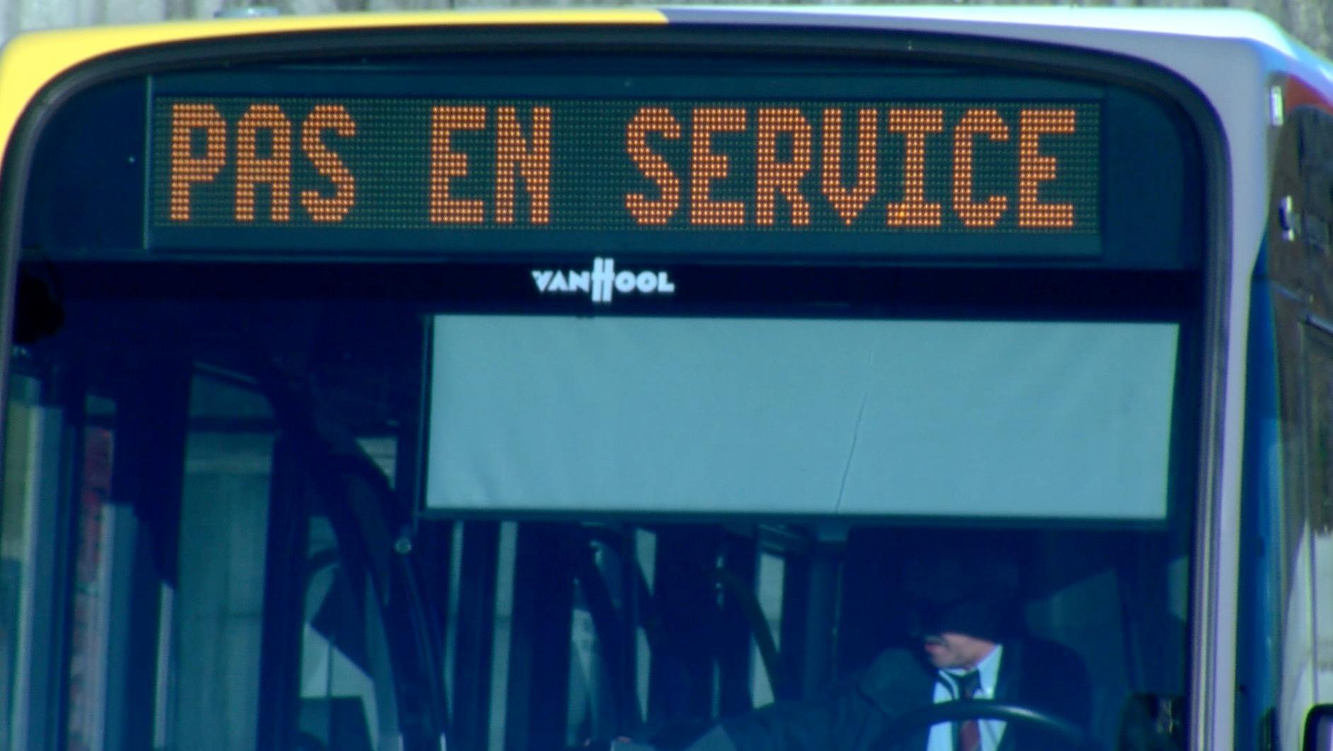 Grève: 3/4 des bus circulent en Wallonie picarde