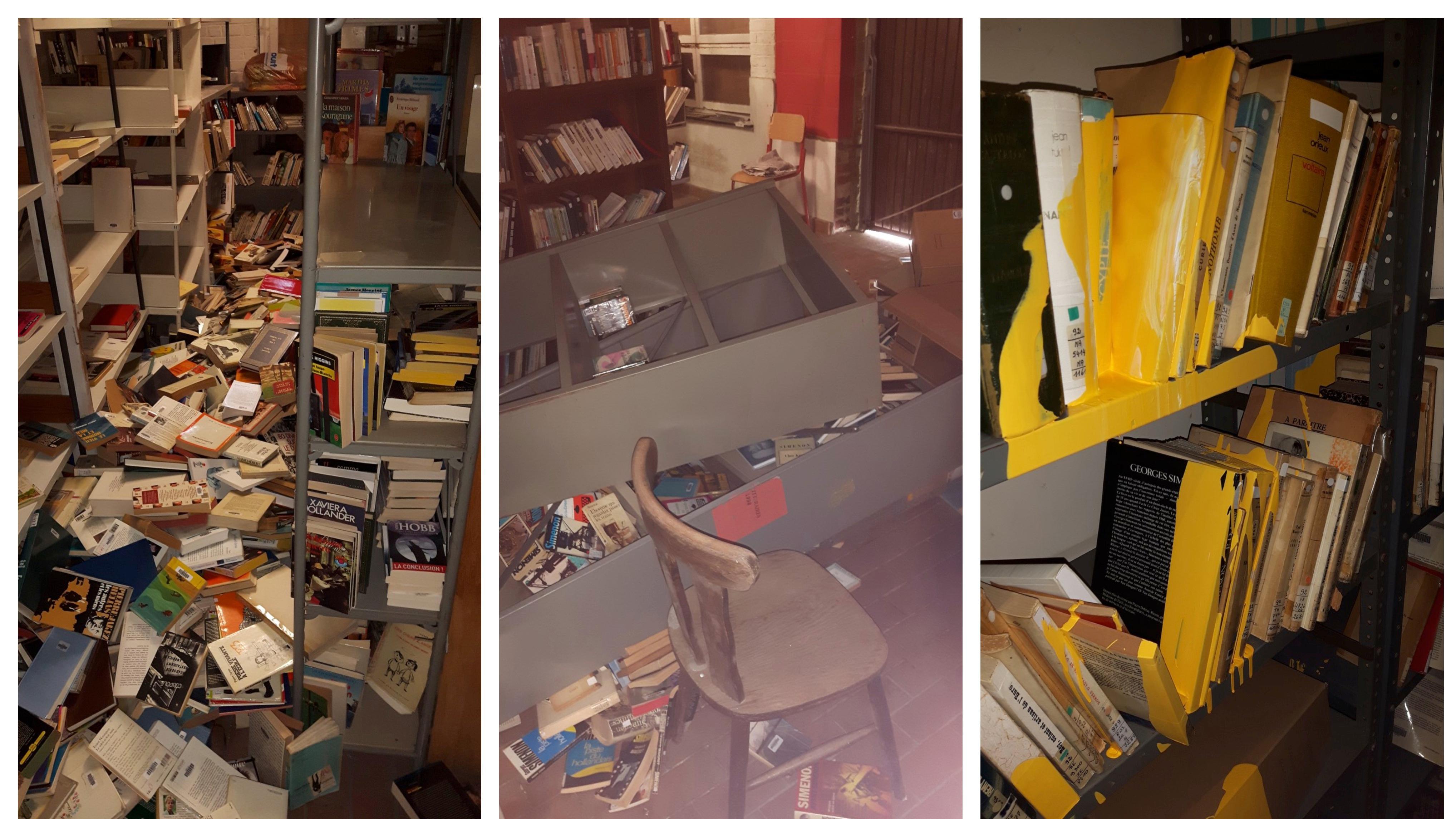 La réserve des bibliothèques saccagée