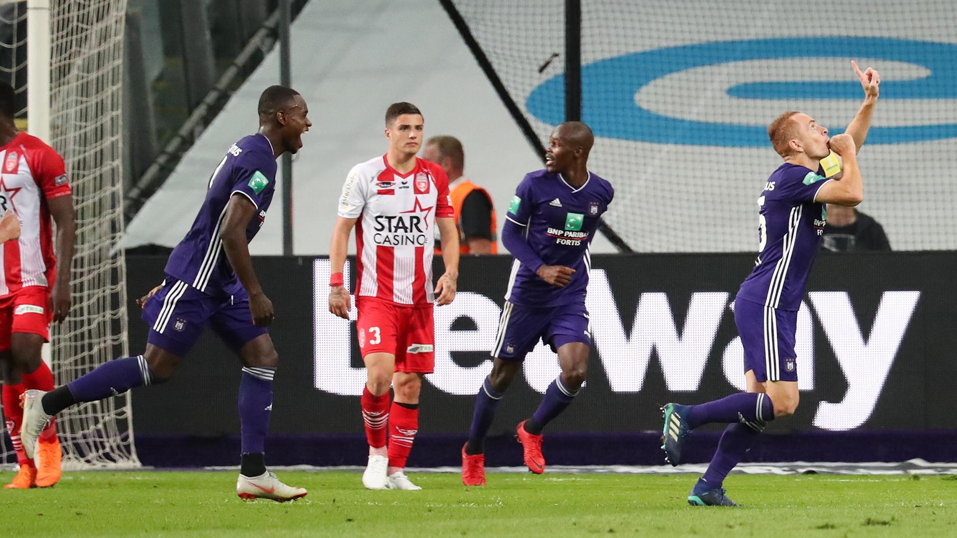 L'Excel Mouscron battu à Anderlecht