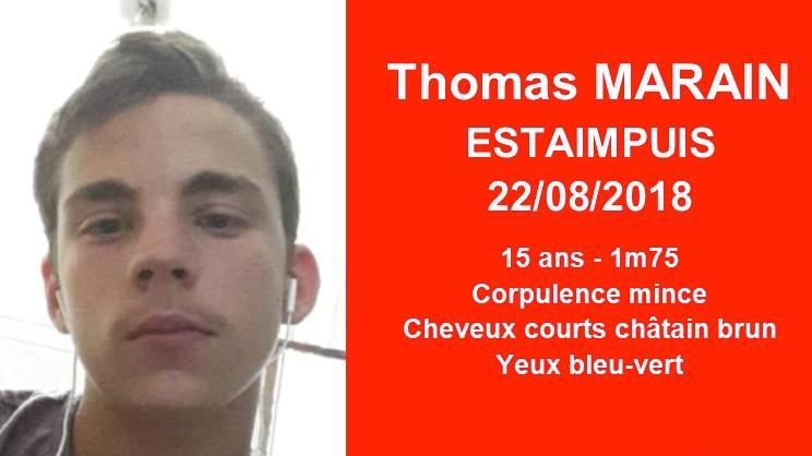 Thomas Marain, 15 ans, a été retrouvé
