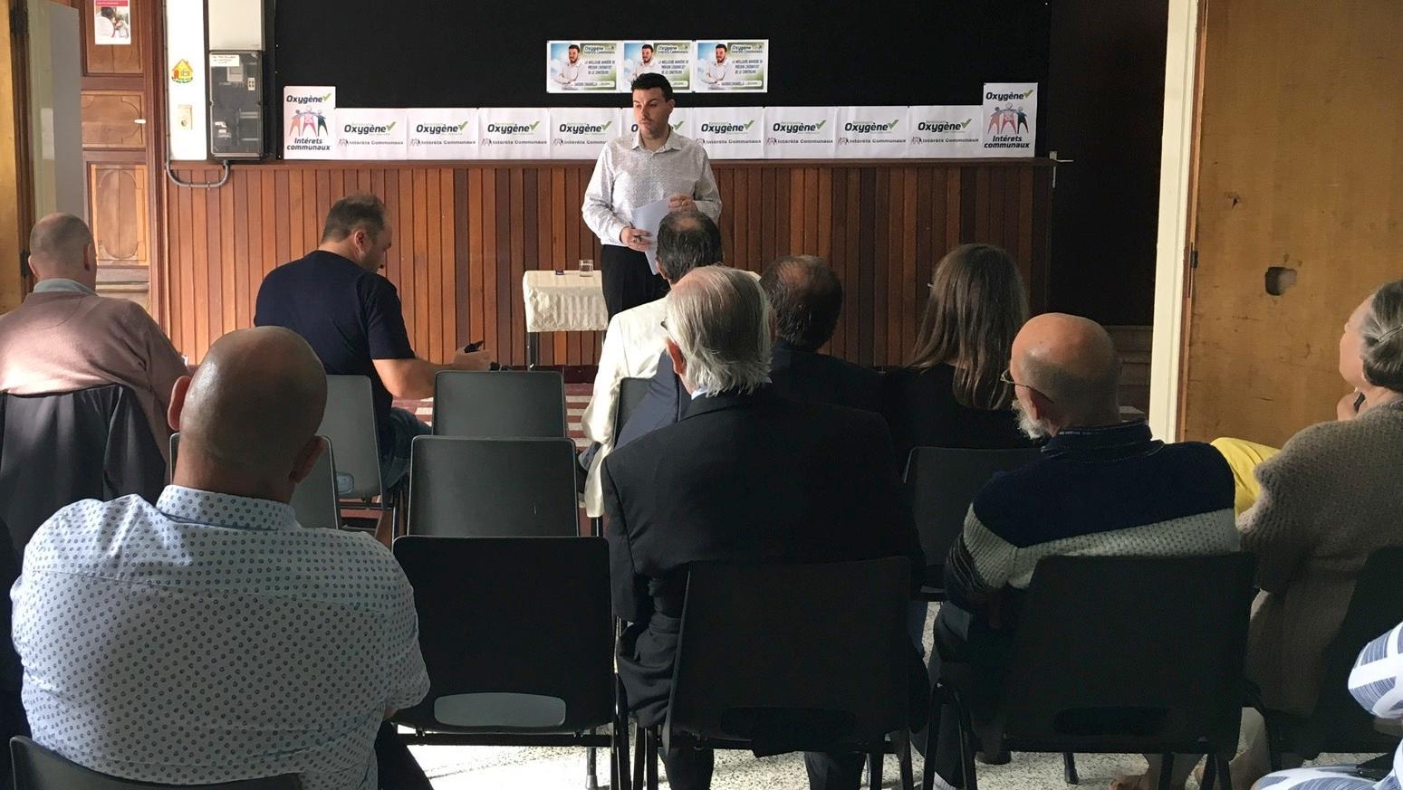 Saverio Ciavarella en tête de liste du groupe Oxygène IC