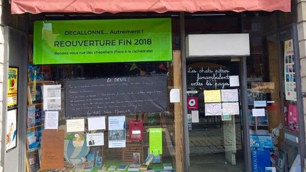 La librairie Decallonne annonce sa réouverture pour la fin de l'année