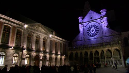 Inauguration de la mise en lumière de la nef romane