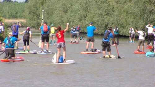 Le raid des canaux en stand up paddle: une première réussie!