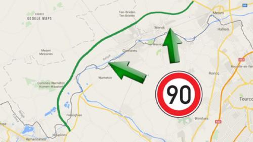 La RN58 passera à 90 km/h