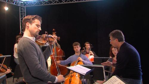 Le Young Belgian Strings avec son parrain, Lorenzo Gatto