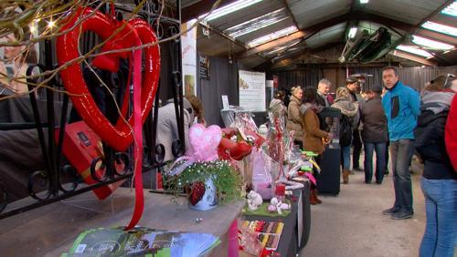 Premier marché de Saint Valentin à Anvaing