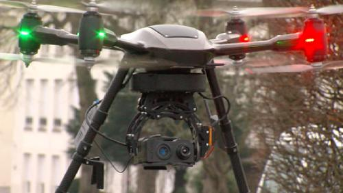 Un drône pour audit énergétique