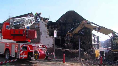 Une habitation détruite suite à un incendie