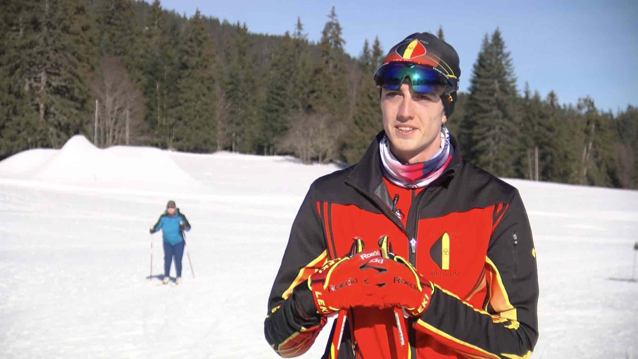 Thibaut De Marre sur la trace des meilleurs skieurs