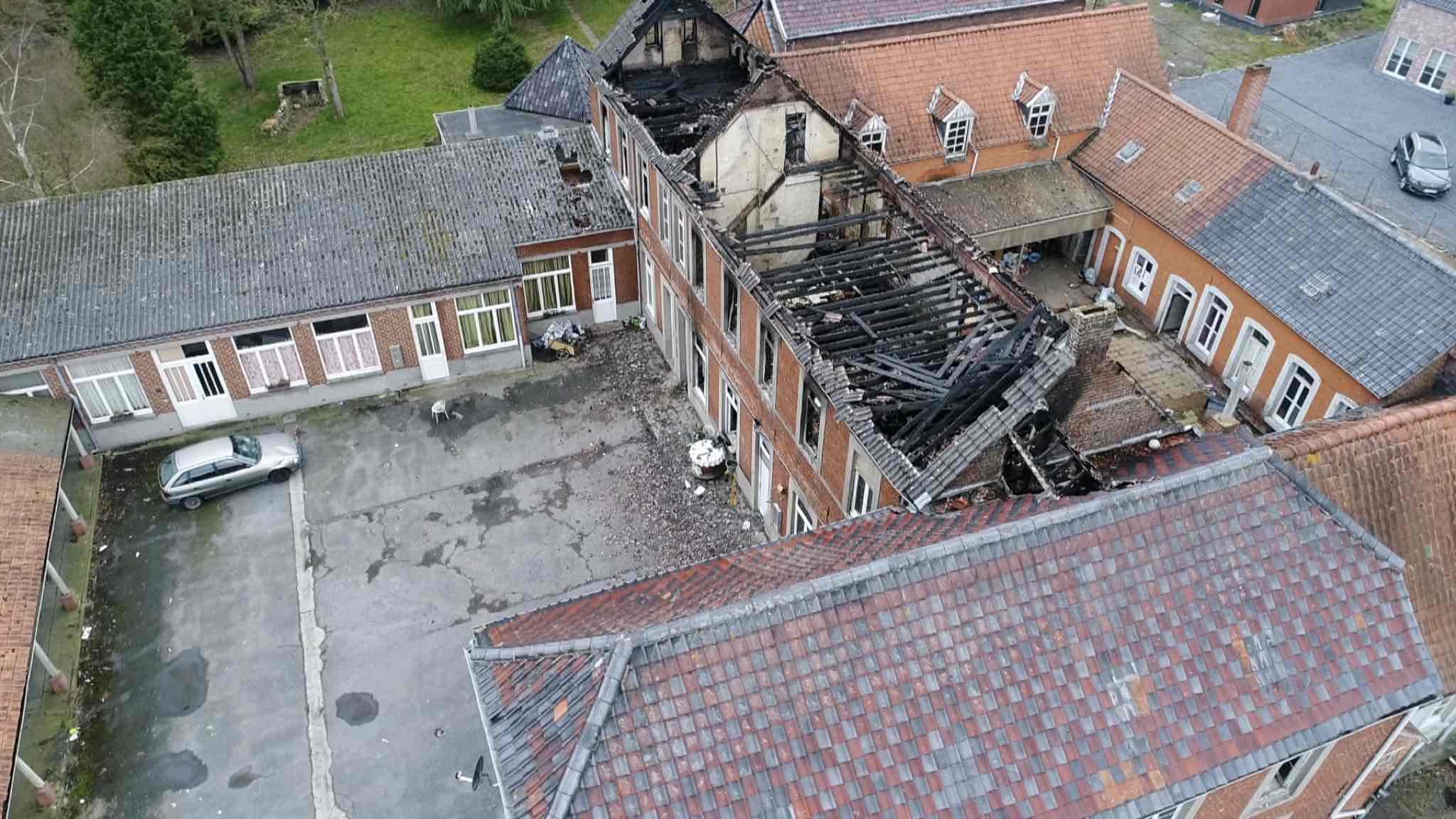 Grave incendie à l'ancien couvent des berceaux