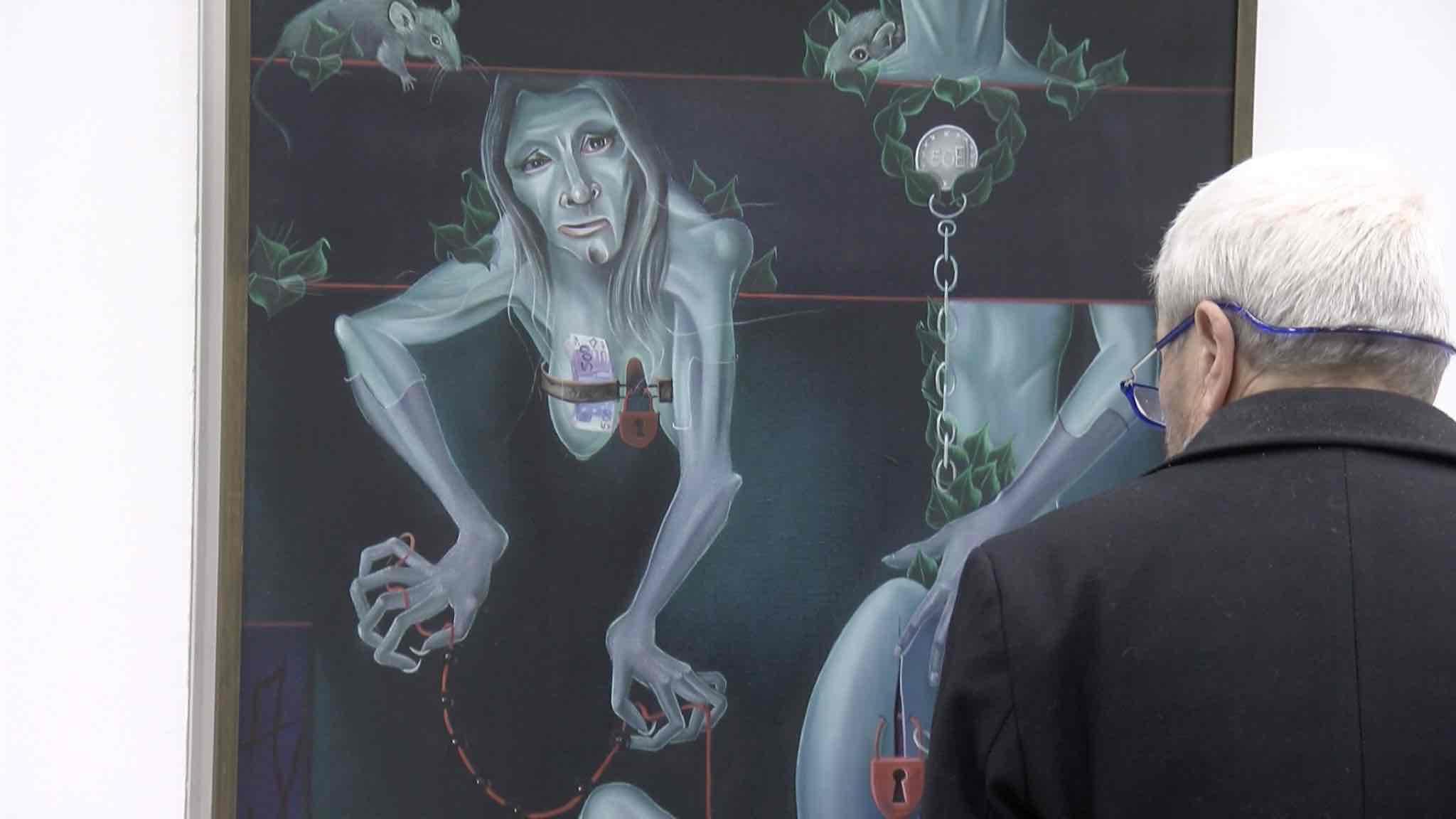 Le travail d'un peintre Mouscronnois exposé au centre Marius Staquet