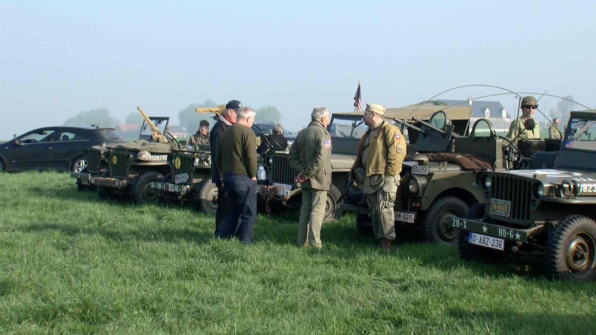 Reconstitution d'un camp militaire US à Mouscron