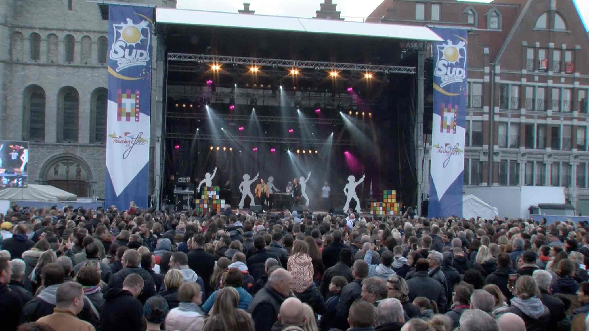 """Feldman, Larusso et Yannick au concert 90's de """"Tournai en fête"""""""