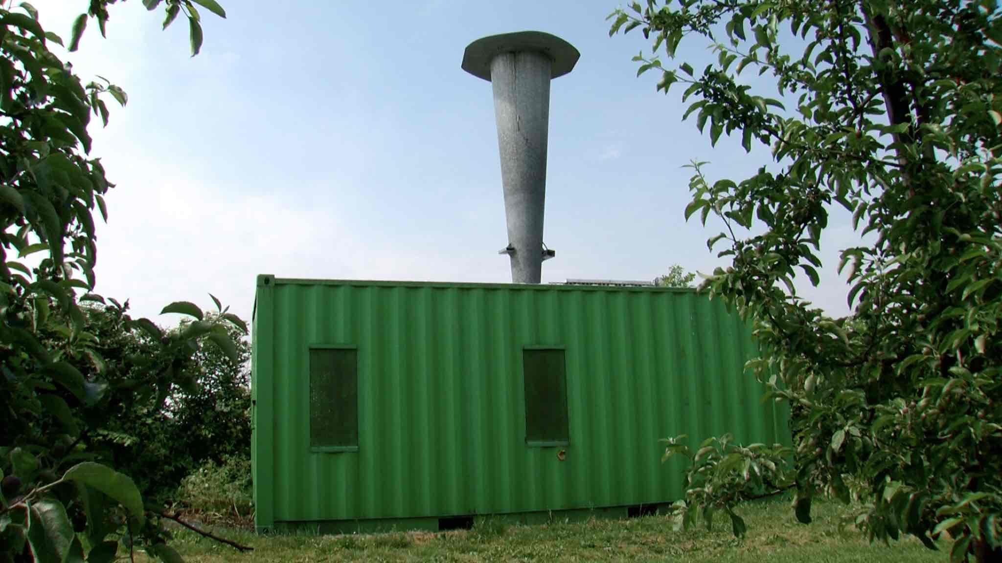 Un canon anti-grêle protège les plantations des vergers de Brunehaut