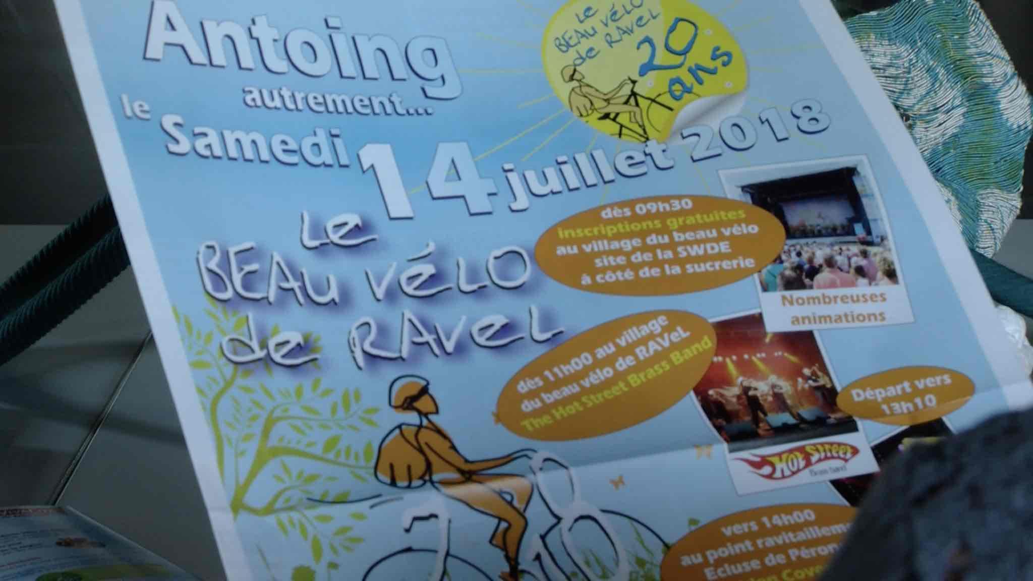 Le beau vélo de ravel fera étape au Pays Blanc