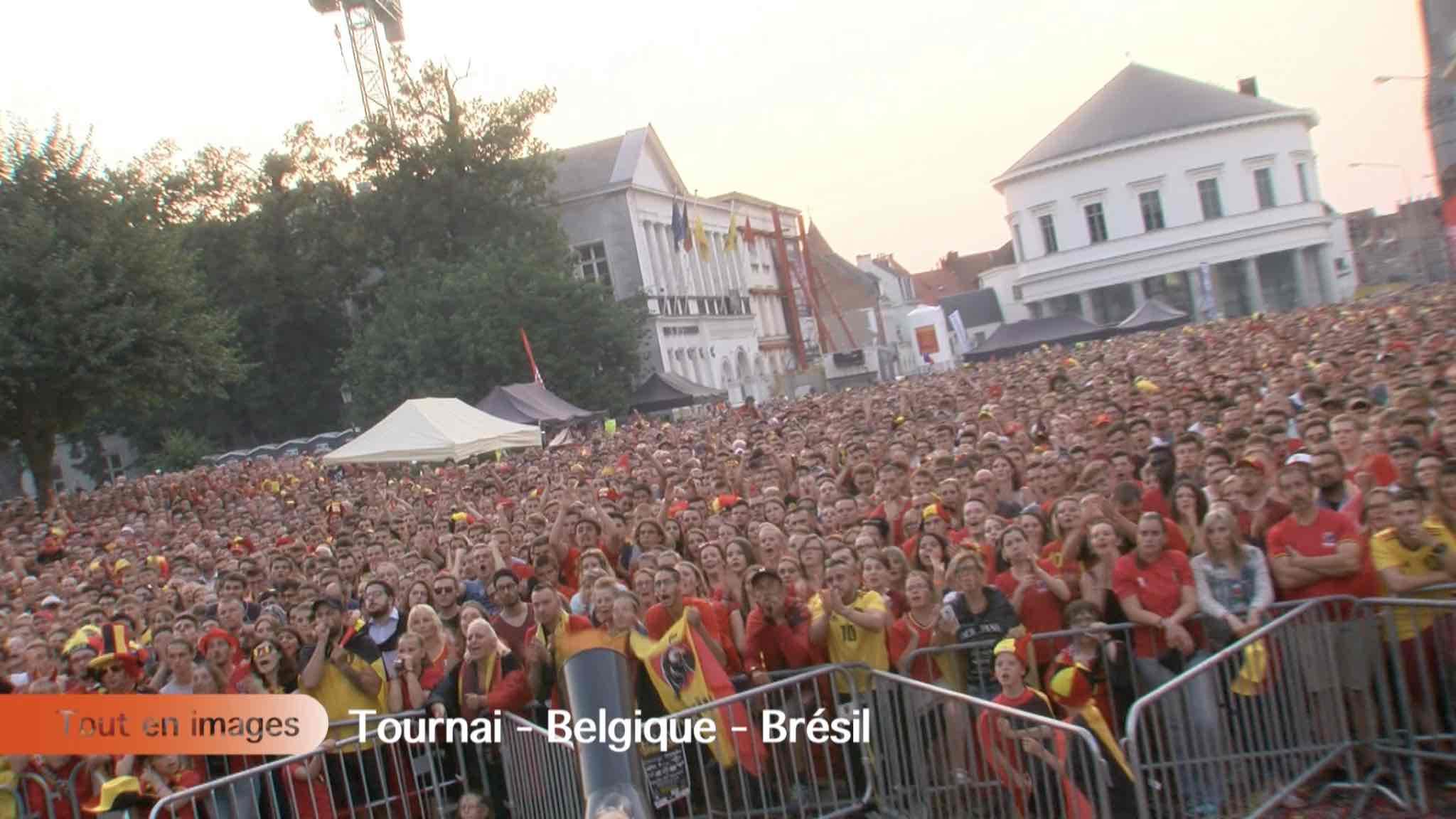 Match Football Belgique - Brésil