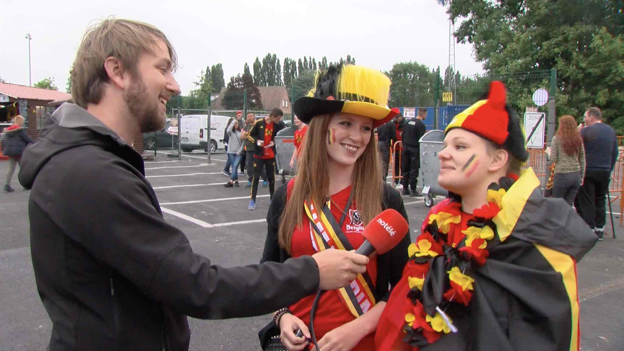 France-Belgique : ambiance à la fan zone de Mouscron