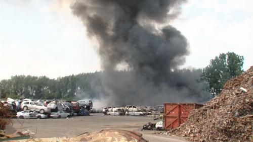 Important incendie dans l'entreprise Galloo