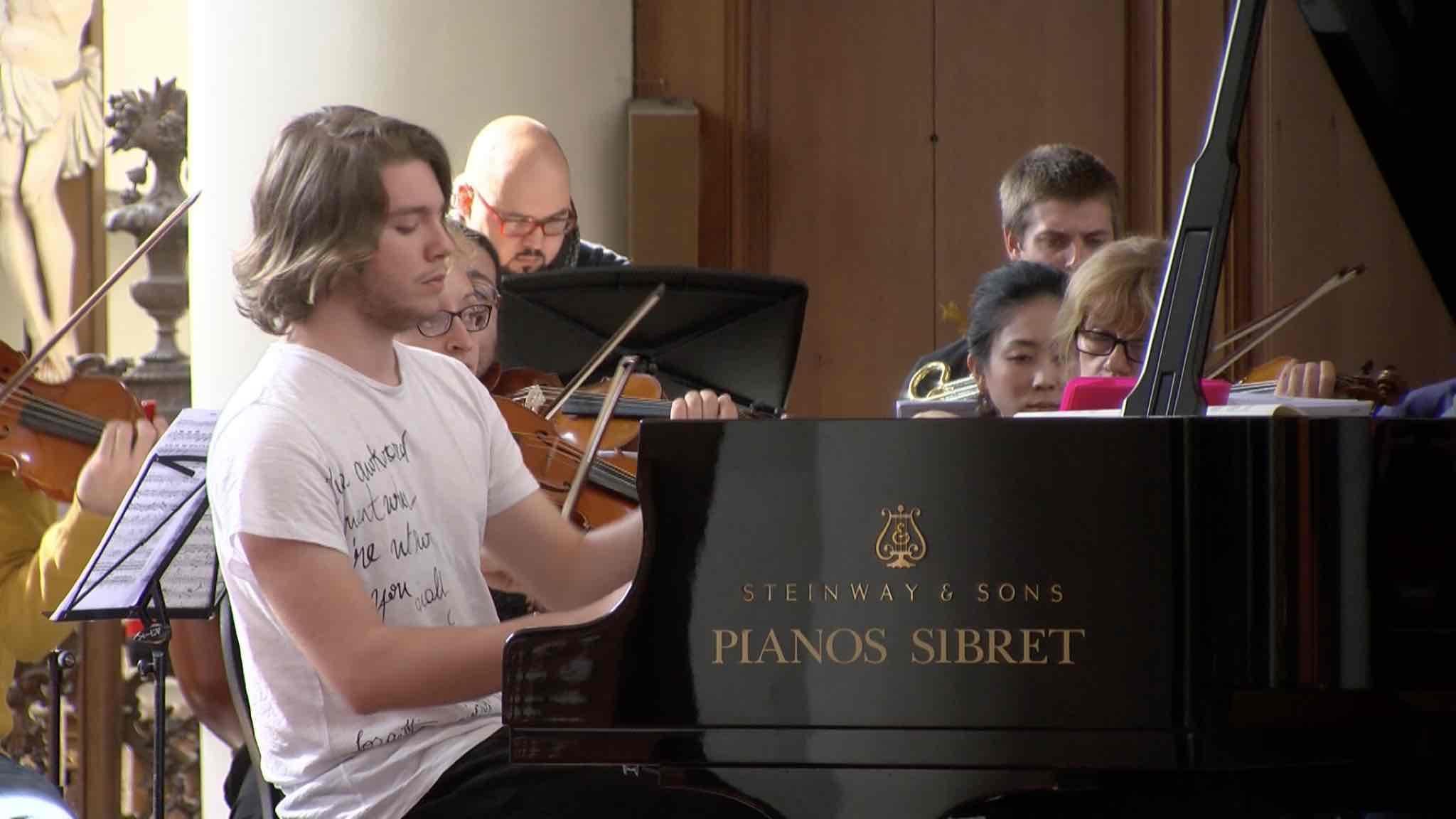 Concours Dumortier: les trois concertos en répétition